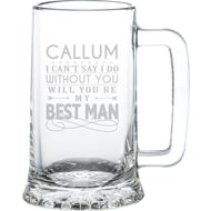 Can't Say I Do Without You Contemporary Glass Stern Tankard