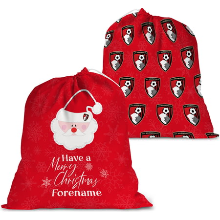 Personalised AFC Bournemouth Merry Christmas Santa Sack