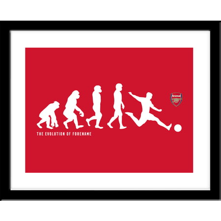 Personalised Arsenal FC Evolution Framed Print