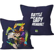 Personalised Ben 10 Battle Ready Cushion - 45x45cm