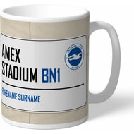 Personalised Brighton & Hove Albion FC Amex Stadium Street Sign Mug