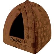 Personalised Brown Pyramid Pet Bed