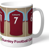 Personalised Burnley FC Dressing Room Shirts Mug