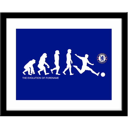 Personalised Chelsea FC Evolution Framed Print