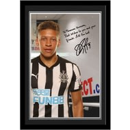 Personalised Newcastle United FC Gayle Autograph Photo Framed