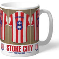 Personalised Stoke City FC Dressing Room Shirts Mug