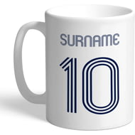 Personalised Tottenham Hotspur Retro Shirt Mug