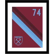 Personalised West Ham United Stripe Framed Print