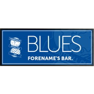 Personalised Birmingham City Crest Rubber Bar Runner