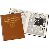 Personalised Dallas Cowboys American NFL Football Newspaper Book