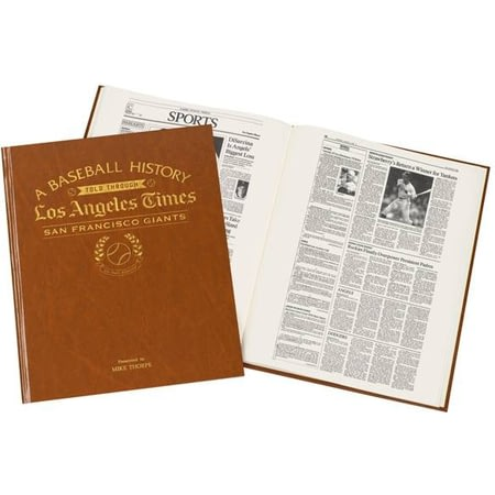 Personalised San Francisco Giants Baseball Newspaper Book