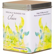 Personalised Modern Design Tea Tin