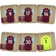 Personalised West Ham United FC Goalkeeper Dressing Room Coasters