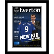 Personalised Everton FC Magazine Front Cover Framed Print