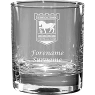 Personalised Ipswich Town FC Crest Whisky Glass