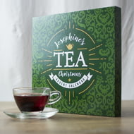 Personalised Tea Christmas Advent Calendar Box