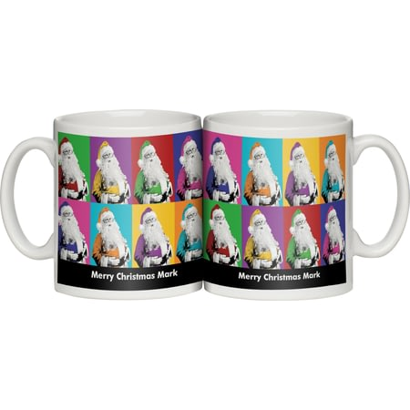 Personalised Technicoloured Santa Personalised Ceramic Mug
