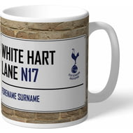 Personalised Tottenham Hotspur FC White Hart Lane Street Sign Mug