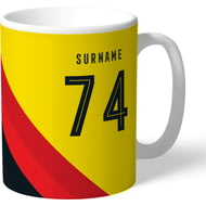 Personalised Watford Stripe Mug