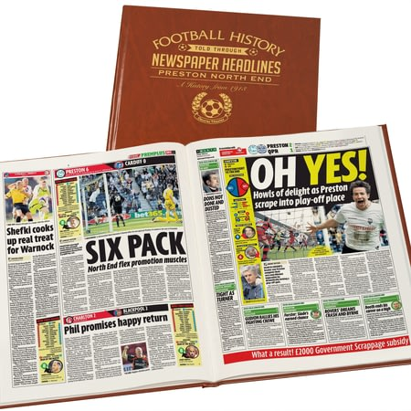 Personalised Preston Newspaper History Book - Leatherette Cover