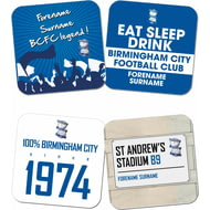 Personalised Birmingham City FC Coasters