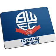 Personalised Bolton Wanderers Bold Crest Mouse Mat