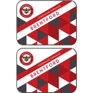 Personalised Brentford FC Patterned Rear Car Mats