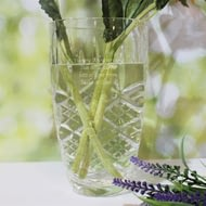 "Personalised Cut Crystal 7"" Vase"