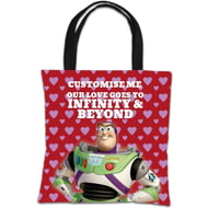 "Personalised Toy Story Buzz Valentines ""Infinity & Beyond"" Tote Bag"