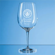 Personalised Manchester City FC Personalised Crest 480ml Wine Glass