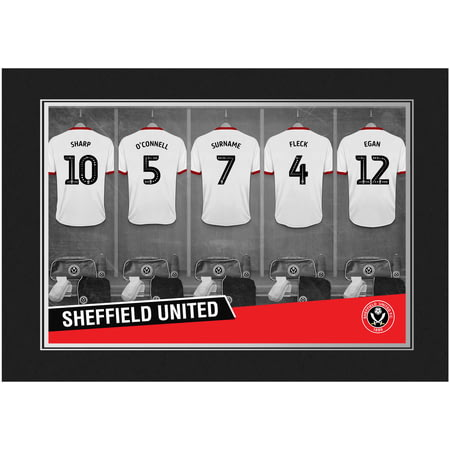 Personalised Sheffield United FC 9x6 Dressing Room Shirts Photo Folder