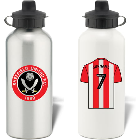 Personalised Sheffield United FC Shirt Aluminium Sports Water Bottle