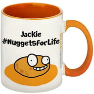 Personalised #NuggetsForLife Orange Inside Mug