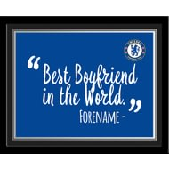Personalised Chelsea FC Best Boyfriend In The World 10x8 Photo Framed