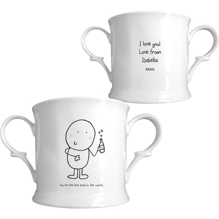 Personalised Chilli & Bubbles Best Dad Loving Cup