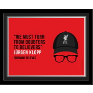 Personalised Liverpool FC Champions 2020 Klopp Photo Framed