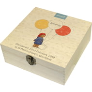 Personalised Paddington Bear Balloon Hinged Memory Box