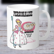 Personalised Toy Story 4 Bo Peep Vintage Ceramic Mug