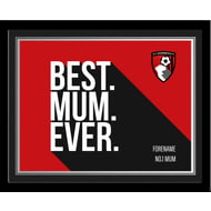 Personalised Bournemouth Best Mum Ever 10x8 Photo Framed