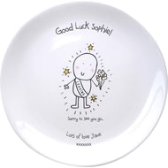 Personalised Chilli & Bubble's Leaving Ceramic Plate