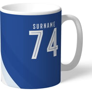 Personalised Everton FC Stripe Mug