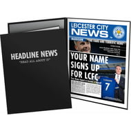 Personalised Leicester City FC Spoof Newspaper Folder