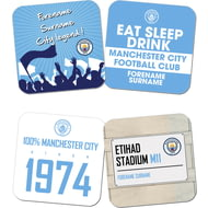 Personalised Manchester City FC Coasters
