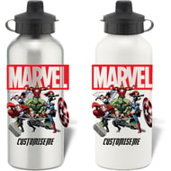 Personalised Marvel Avengers Group Aluminium Sports Water Bottle
