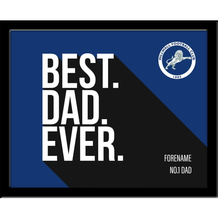 Personalised Millwall FC Best Dad Ever 10x8 Photo Framed