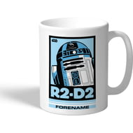 Personalised Star Wars R2 D2 Pop Art Mug