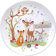 "Personalised Woodland Animals Scene 8"" Ceramic Ceramic Plate"