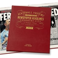 Personalised Coventry City Football Newspaper Book - Leather Cover