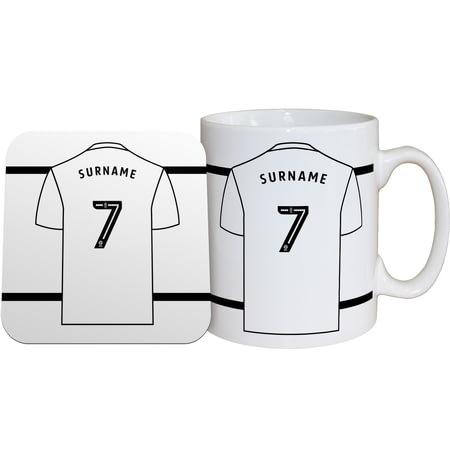 Personalised Derby County Shirt Mug & Coaster Set