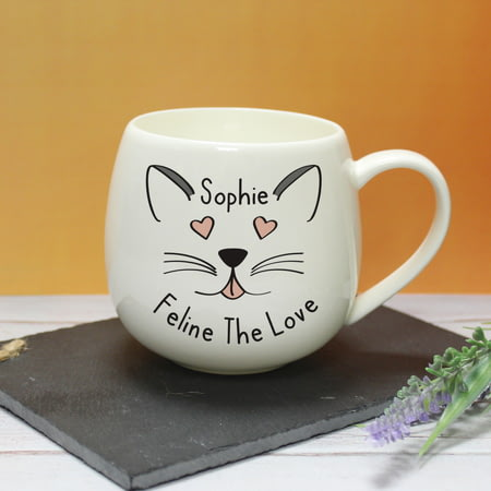 Personalised Feline The Love Hug A Mug